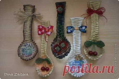 Декоративные ложки для кухни из газет: мастер-класс