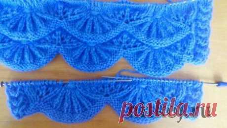 «Волны» узор спицами » Ниткой - вязаные вещи для вашего дома, вязание крючком, вязание спицами, схемы вязания