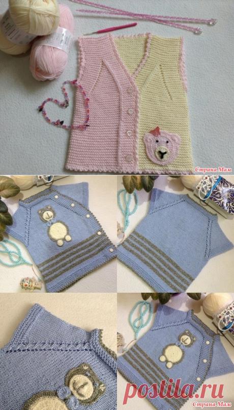 Нежная безрукавочка для малышей - Вязание - Страна Мам