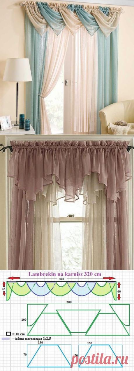 Большая подборка выкроек для пошива штор