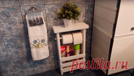 Красивая и удобная самоделка для ванной и туалета - Сам себе мастер - медиаплатформа МирТесен