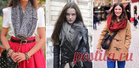 Вяжем шарф-снуд спицами: новинки и схемы вязания