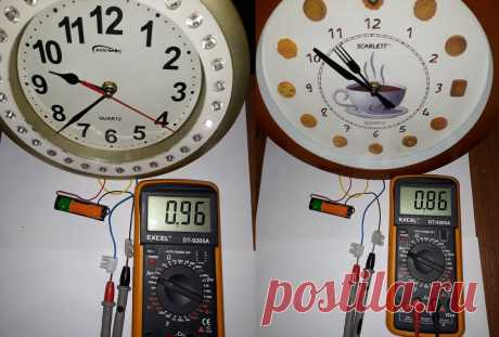В каких часах быстрее сядет батарейка, с секундной стрелкой или без? Измерим ток. | ElektroTechLife | Яндекс Дзен