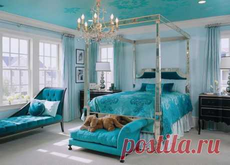 Стильный интерьер бирюзовой спальни — Квартирный вопрос