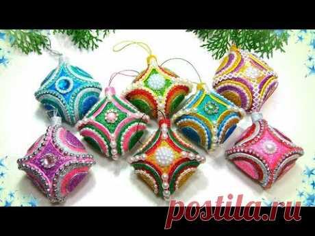 Ёлочные игрушки БЕЗ ОСНОВЫ из фоамирана своими руками / diy christmas ornaments