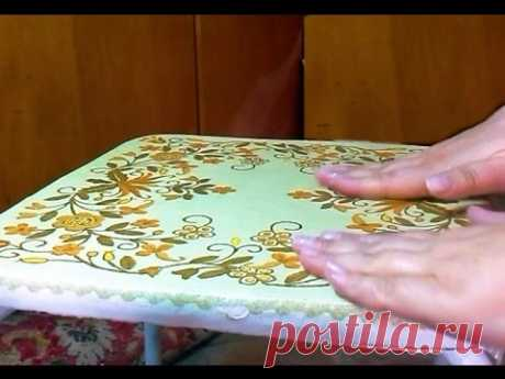 Decoupage. How to paste the whole big napkin. Master class