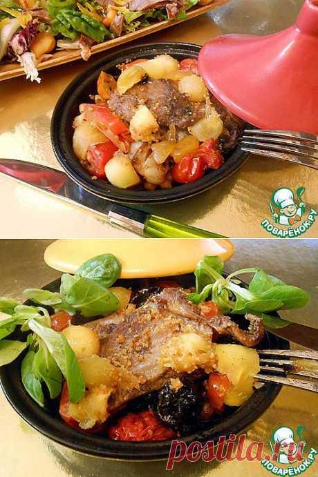 Ребрышки с овощами в мини-тажинах - кулинарный рецепт