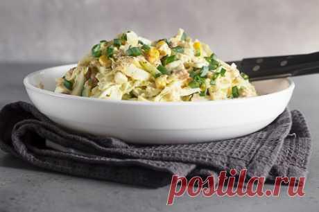 Салат из печени трески с пекинской капустой: пошаговый рецепт с фото | Меню недели