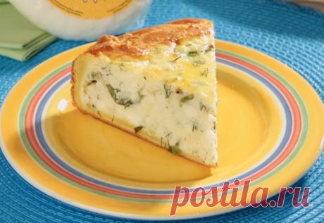 Картофельный пирог с адыгейским сыром