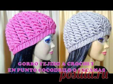 Gorro tejido a crochet para niñas e60250a476e