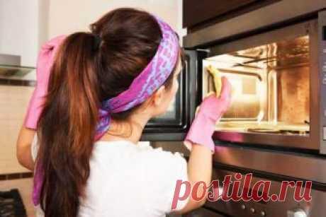 Как очистить микроволновую печь от жира уксусом