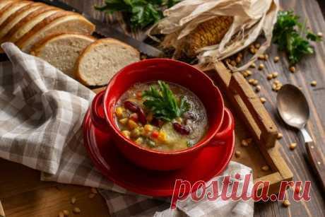 Мексиканский суп с кукурузой и фасолью — просто и доступно. Пошаговый рецепт с фото — Ботаничка.ru