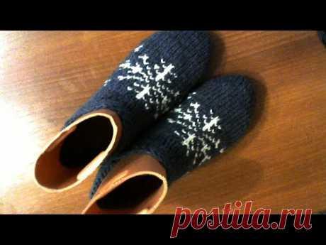 Вяжем простые следки на 2-х спицах.#мастеркласс #красивыйузор #вязание #knitting #лучшее #мк - YouTube