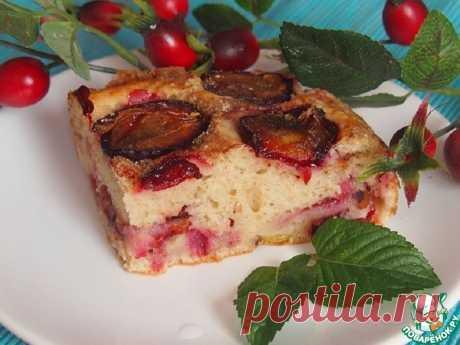 Сливовый пирог на кефире Кулинарный рецепт