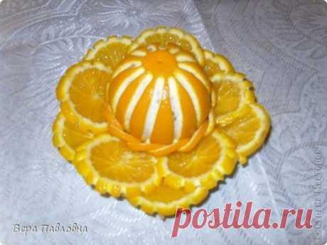 Невиданные апельсиновые цветы к праздничному столу