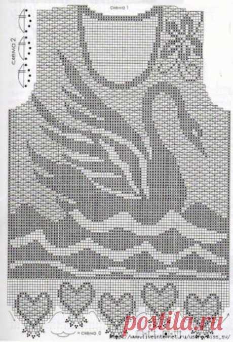 Мастера и умники: Филейное вязание. Узоры крючком
