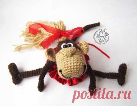 Keychain monkey two in one crochet pattern by simplytoys13 on Etsy
