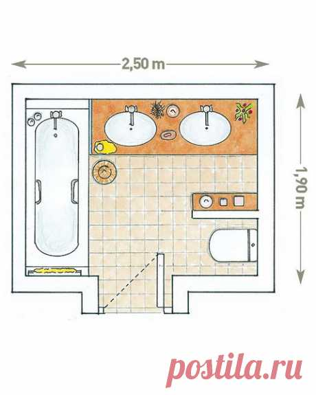 Дизайн совмещенного санузла: 5 идей с фото