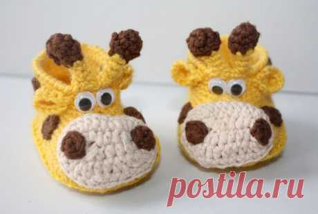 Giraffe booties Pregnancy baby announcement Newborn booties Unisex Neutral gender Little baby shoes Reveal gift set Crochet newborn shoe Giraffe booties are the perfect gift for a newborn Suitable for…