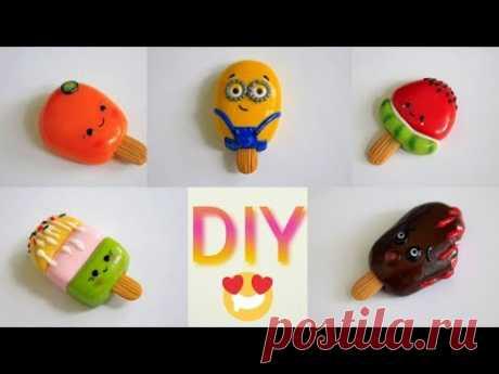 DIY: 5 Идей мороженого из полимерной глины🍦 5 polymer clay ice cream ideas