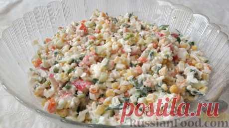 Рецепт: Крабовый салат с рисом на RussianFood.com