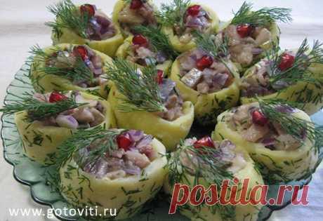 Селедка с картошкой на праздничный стол - Готовить Вкусно (ツ)