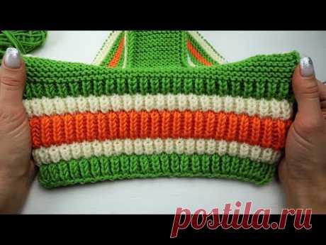ПОРАЗИТЕЛЬНО ПЫШНАЯ РЕЗИНКА! Ну очень красивый узорчик для шапок, свитеров и не только...