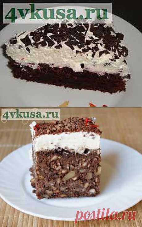 Праздничный торт с орехами без муки | 4vkusa.ru