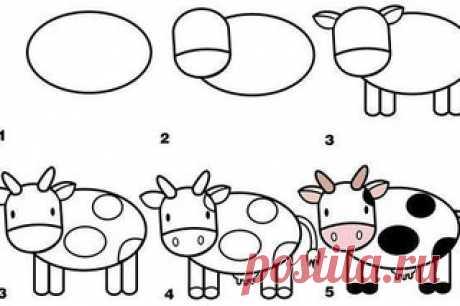 Учимся рисовать животных ——————————————————————————  • Развивающие и учебные материалы #ychimsa_detikazan