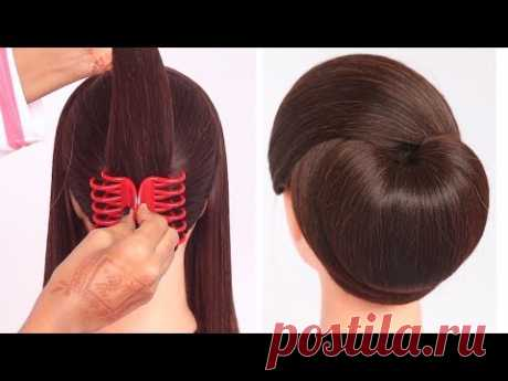 very easy hairstyle with using clutcher   try on hairstyle   simple hairstyles   clutcher hairstyle