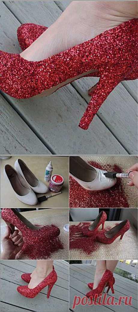 Старые туфли превращаем в новые - праздничные | Ladies venue