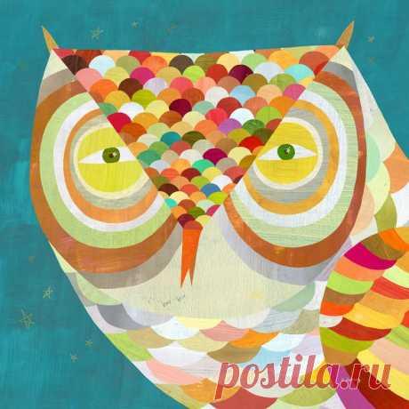 All Seeing Owl Giclee Art Print Children's | Etsy