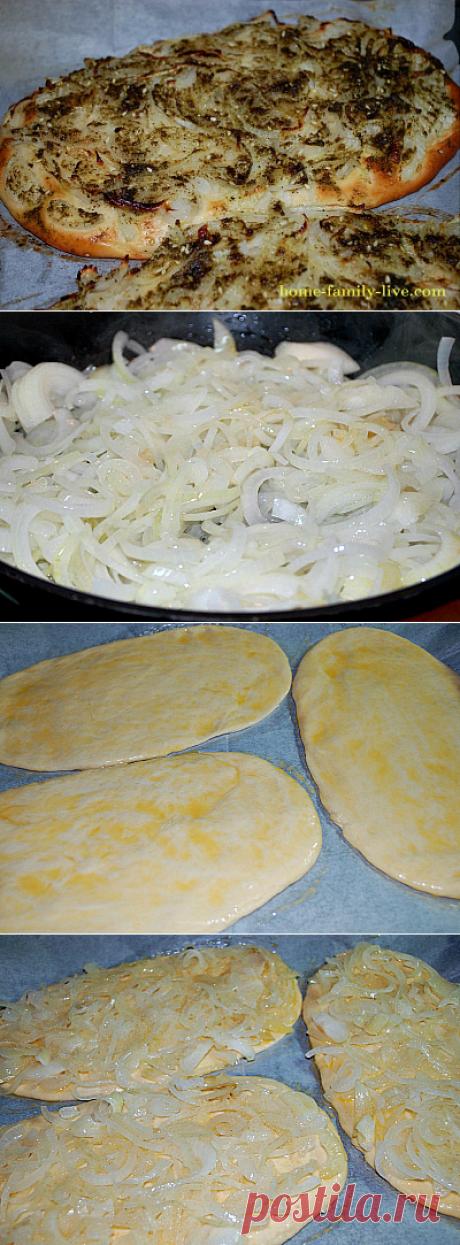 Хлеб лепешка с луком/Сайт с пошаговыми рецептами с фото для тех кто любит готовить