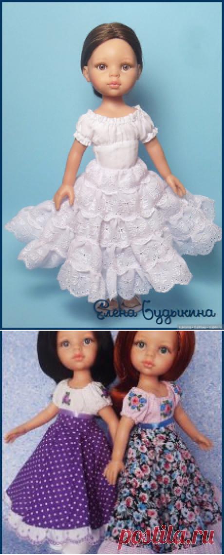 """""""Элоди"""" - моё первое шитое платье для куклы Paola Reina / Одежда и обувь для кукол своими руками / Бэйбики. Куклы фото. Одежда для кукол"""