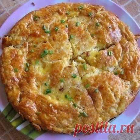 Как приготовить закусочный пирог с плавленным сырком - рецепт, ингредиенты и фотографии