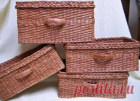 Простая корзинка: плетение из газетных трубочек для начинающих | 33 Поделки | Яндекс Дзен