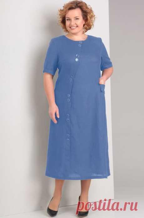 Платье Диамант, синий (модель 1280) — Белорусский трикотаж в интернет-магазине «Швейная традиция»
