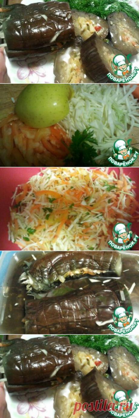 Маринованные баклажаны с капустой и яблоком домашний пошаговый рецепт с фотографиями как приготовить