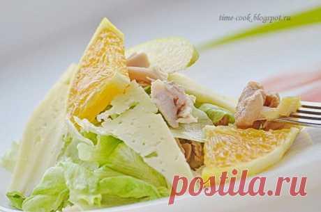 Мастерская на кухне: Жизнерадостный салат с курицей, цитрусовыми и зеленым яблоком.