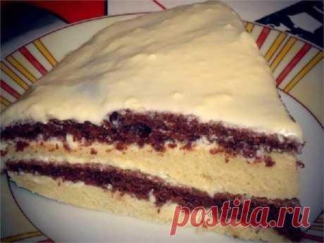 Лёгкий и вкусный тортик на кефире