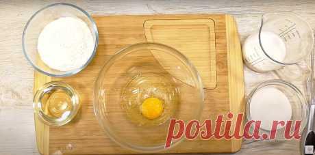 Хоть с яблоками, хоть с бананами! На сковороде - мягкий, воздушный пирог - тесто с одним яйцом! | Алена Митрофанова - рецепты. | Яндекс Дзен