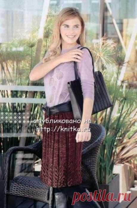 Классическая юбка, связанная спицами, Вязание для женщин