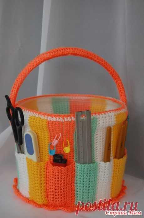 Корзиночка для рукоделия крючком - Вязание - Страна Мам
