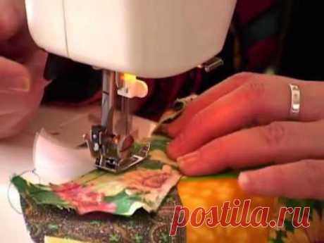 Лоскутное шитье для начинающих. Сумасшедший квилт — Яндекс.Видео