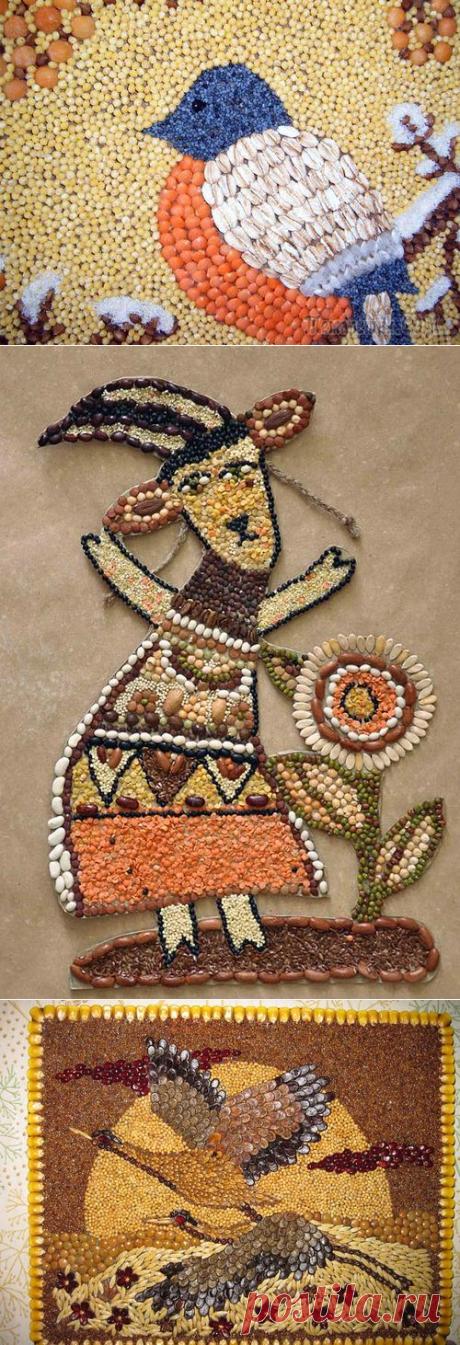La Clase maestra por la fabricación de los cuadros del grano