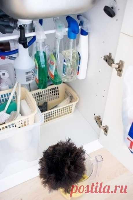 Cредства для чистки и мытья будут занимать гораздо меньше места — Полезные советы