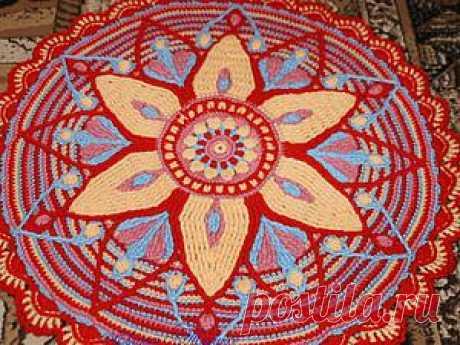 Вяжем крючком коврик-мандалу. Часть 1 - Ярмарка Мастеров - ручная работа, handmade