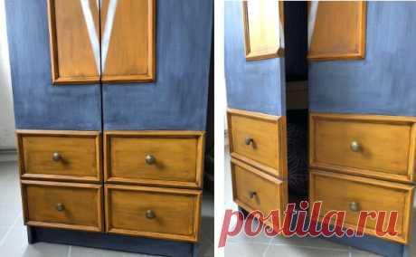 Девушка превратила старый шкаф в красавца. 5 секретов от мастера | Меблировка по уму | Яндекс Дзен