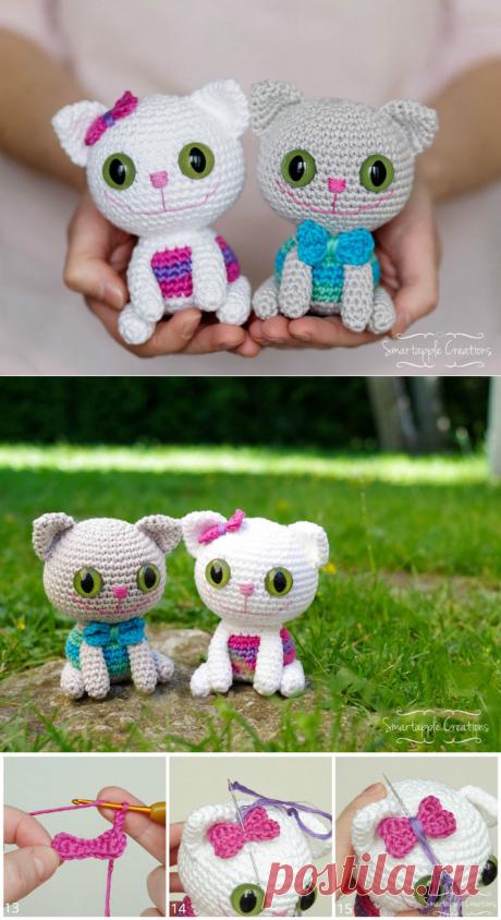 Котята амигуруми: схема вязания игрушек