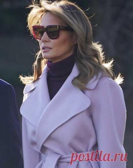 Мелания Трамп показывает, как носить цветное пальто | VestiNewsRF.Ru